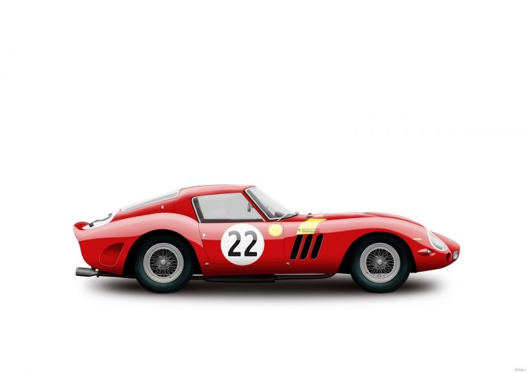 Ferrari 250 GTO Nick Mason livery by Birmingham car photographer Paul Ward