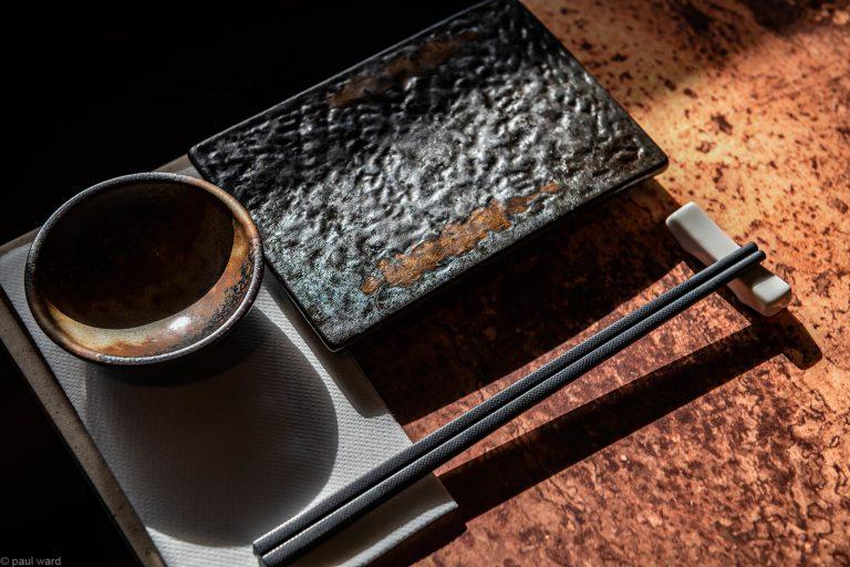 Sushi place setting image by Birmingham photographer Paul Ward